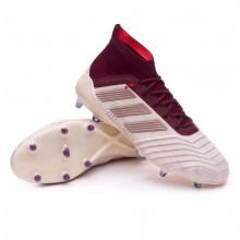 Boot adidas Woman Predator 18.1 FG Talc-Vapour grey metallic-Maroon ... 61a265524e