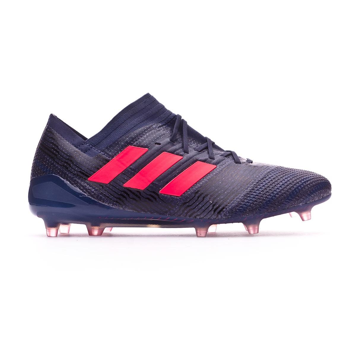 size 40 93a08 1f4da Boot adidas Woman Nemeziz 17.1 FG Trace blue-Red zest-Core black - Football  store Fútbol Emotion