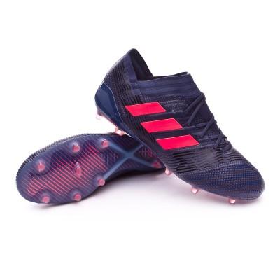 Bota de fútbol adidas Nemeziz 17.1 FG Mujer Trace blue-Red zest-Core black  - Leaked soccer a7fe0d155229f