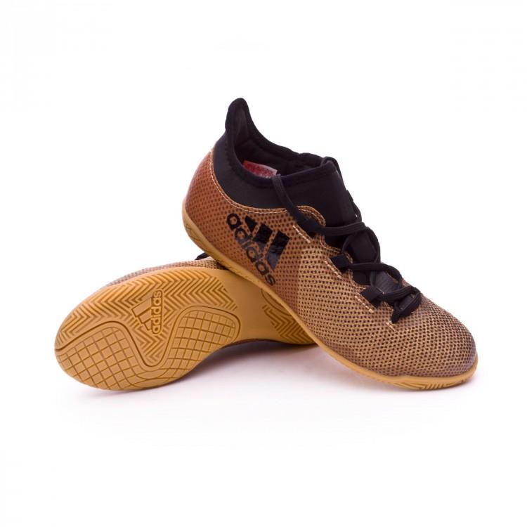 Futsal Boot adidas Kids X Tango 17.3 IN Tactile gold metallic-Core ... 0c714dbb9