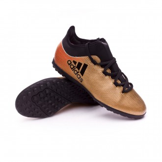 Zapatilla  adidas X Tango 17.3 Turf Niño Tactile gold metallic-Core black-Solar red