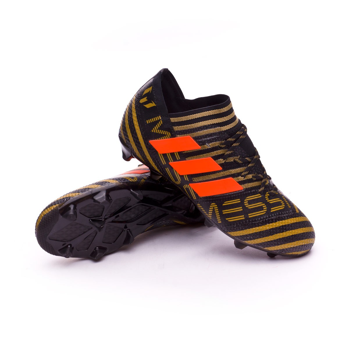 newest cd1a7 475e7 Nemeziz Messi 17.1 FG Niño Core black-Solar red-Tactile gold metallic