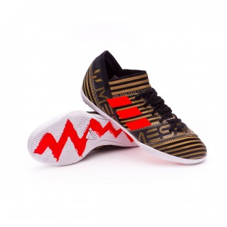 Zapatilla  adidas Nemeziz Messi Tango 17.3 IN Niño Core black-Solar red-Tactile gold metallic