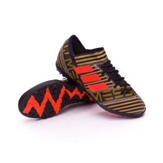 Zapatilla  adidas Nemeziz Messi Tango 17.3 Turf Niño Core black-Solar red-Tactile gold metallic