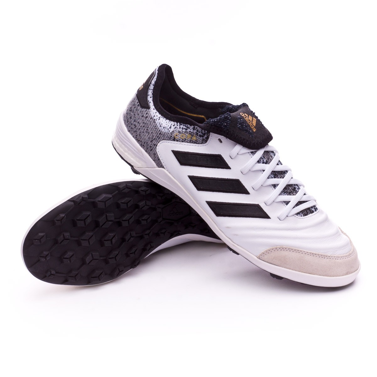 9243163b51f adidas Copa Tango 18.1 Turf Football Boot. White-Core black-Tactile gold ...