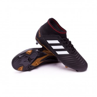 Bota  adidas Predator 18.3 FG Niño Core black-White-Gold metallic-Solar red