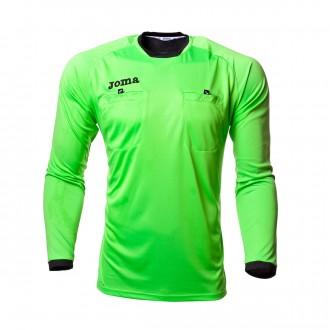 Camiseta  Joma Arbitro m/l Verde fluor