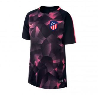 Camiseta  Nike Atletico de Madrid Squad Top 2017-2018 Niño Black-Laser pink