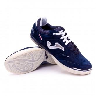 Sapatilha de Futsal  Joma Top Flex Nobuck Azul Marinho