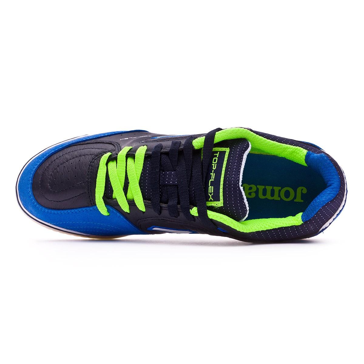 7f08b6be3b5 Futsal Boot Joma Top Flex Blue-Navy blue-Black - Tienda de fútbol Fútbol  Emotion