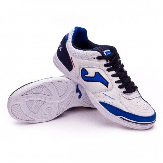 Futsal Boot  Joma Top Flex White-Blue