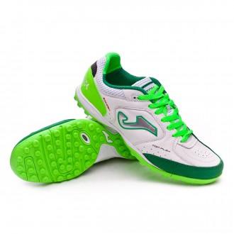 Chaussure de football  Joma Top Flex Turf Blanc-Vert