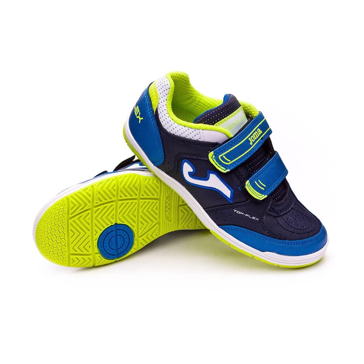 Zapatilla Joma Top Flex Velcro Niño Azul - Soloporteros es ahora Fútbol  Emotion 23891549605a0