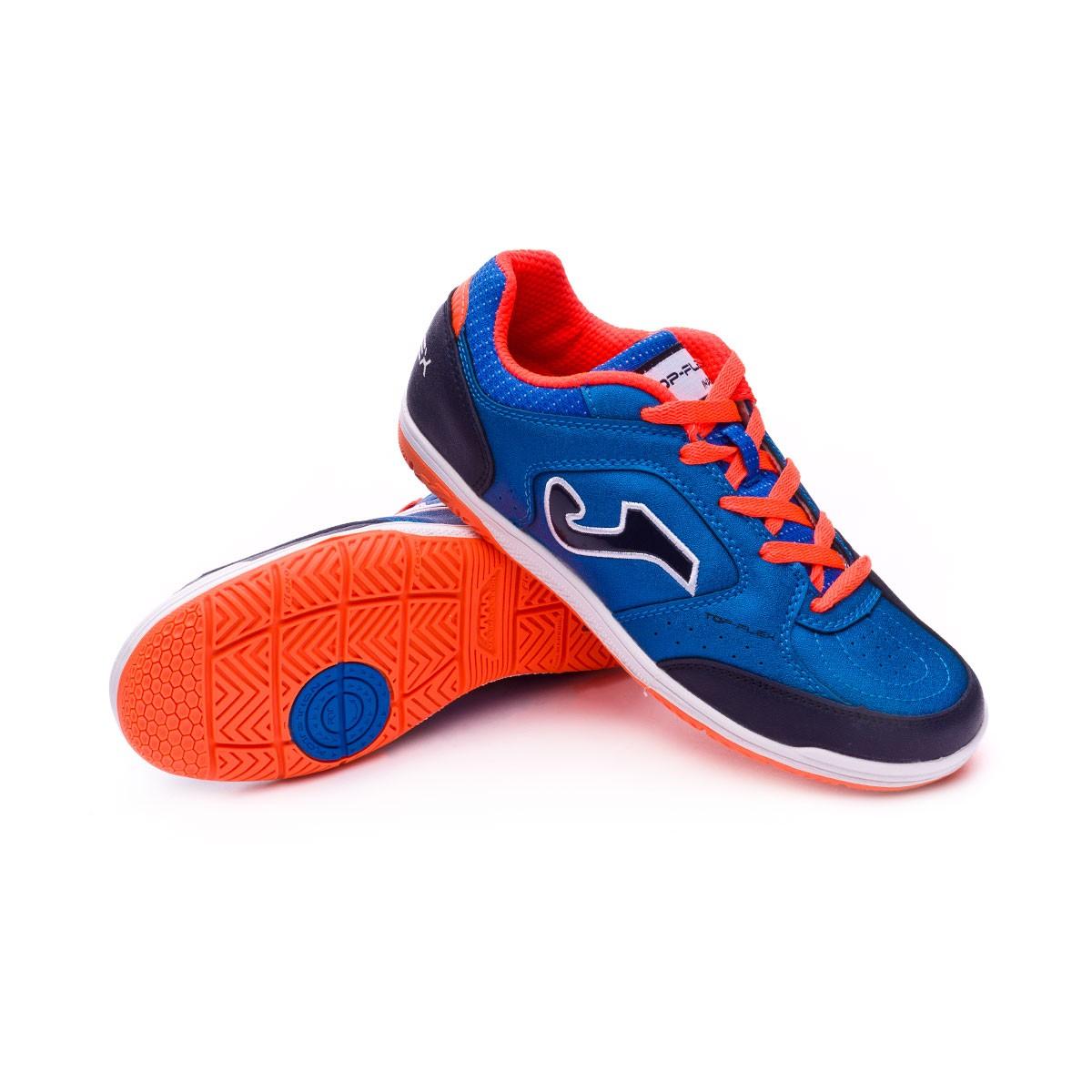 6fb40164c Futsal Boot Joma Top flex Niño Blue-Orange - Soloporteros is now ...