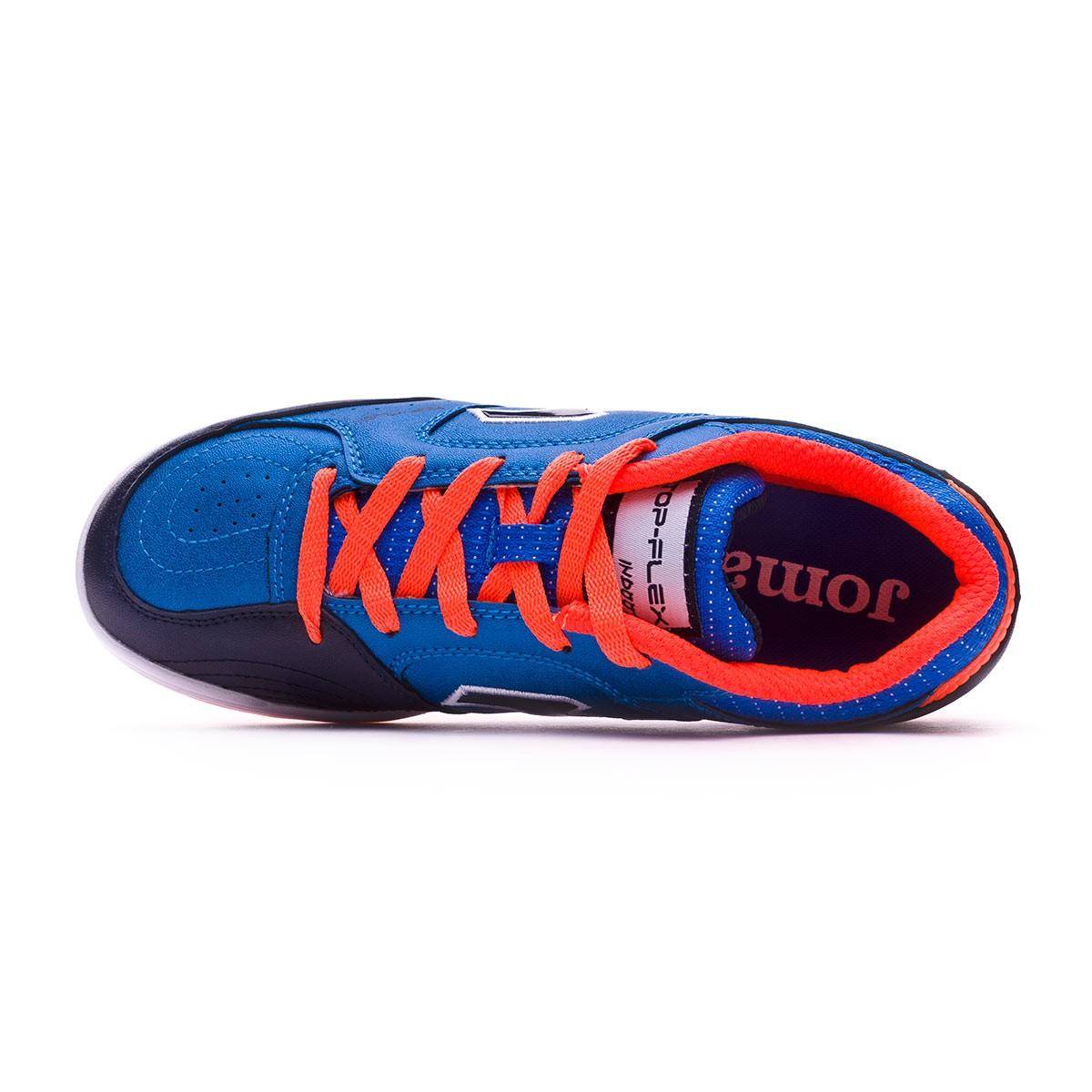 d38fd1fc31c Futsal Boot Joma Kids Top Flex Blue-Orange - Tienda de fútbol Fútbol Emotion