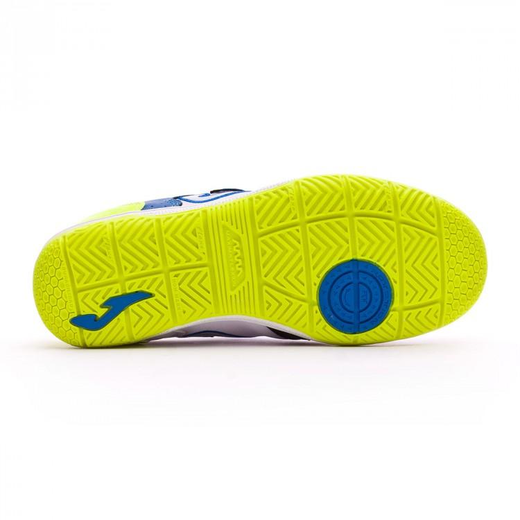 Zapatilla Joma Top Flex Velcro Niño Blanca-Azul - Leaked soccer f8102b5e46444