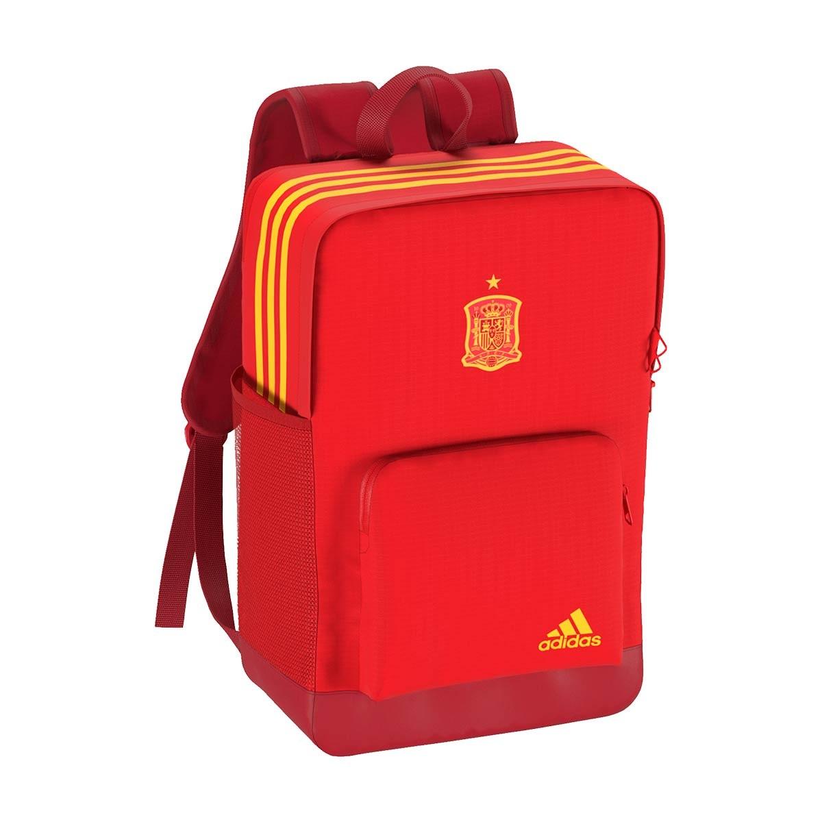 2228e397d2 Backpack adidas Spain 2017-2018 Power red-Gold - Tienda de fútbol ...