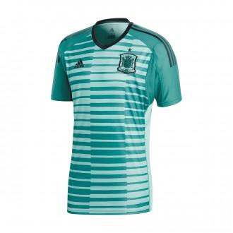 Camiseta  adidas España Primera Equipación Portero 2017-2018 Aero green-Power green