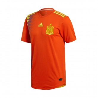 Camisola  adidas Authentic España Primera Equipación 2017-2018 Red-Gold