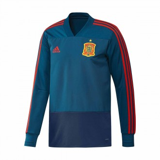 Sweatshirt  adidas España 2017-2018 Tribe blue-Red-Red