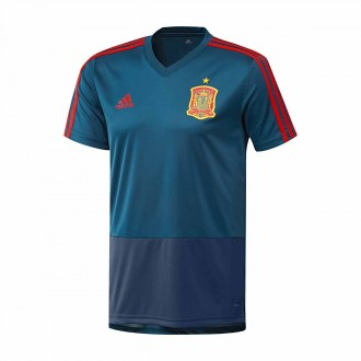 Camiseta  adidas Training España 2017-2018 Tribe blue-Red