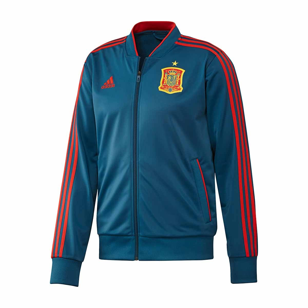 47078d34e16 Jacket adidas Spain 2017-2018 Street Tribe blue-Red - Football store ...
