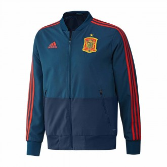 Jacket adidas Spain Prematch 2017-2018 Tribe blue-Red