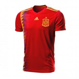 Camiseta  adidas España Primera Equipación 2017-2018 Red-Gold