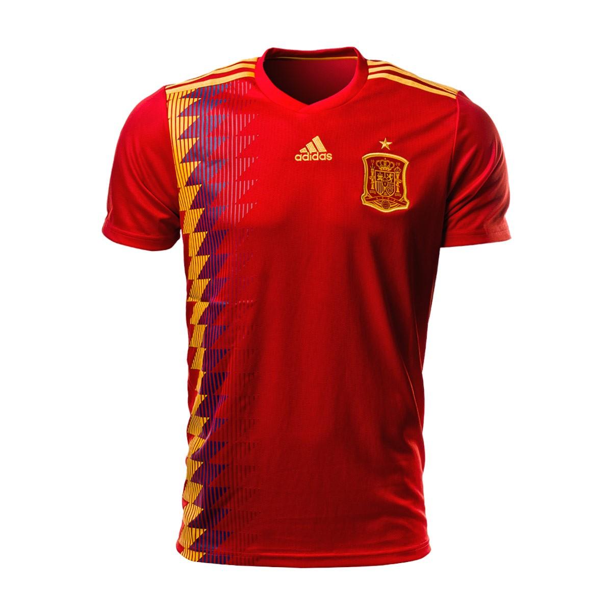 Camiseta adidas España Primera Equipación 2017-2018 Red ...