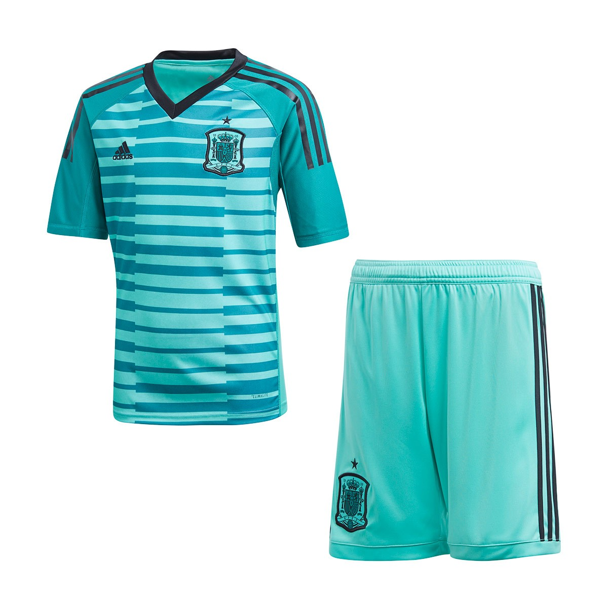 5c79887a4 adidas Kids Spain Goalkeeper 2017-2018 Home Kit. Aero green-Power ...