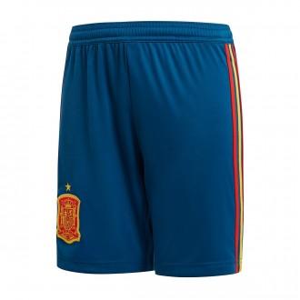 Pantalón corto  adidas España Primera Equipación 2017-2018 Niño Tribe blue-Red-Gold