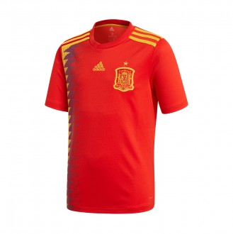 Camiseta  adidas España Primera Equipación 2017-2018 Niño Red-Gold