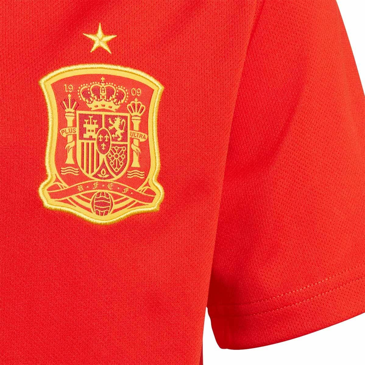 8ee974d1ae5e9 Camiseta adidas España Primera Equipación 2017-2018 Niño Red-Gold - Tienda  de fútbol Fútbol Emotion
