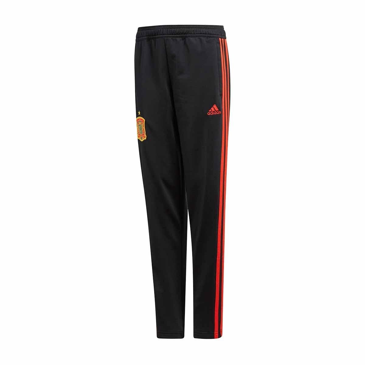 21cea8d6594a Long pants adidas Kids Training Spain 2017-2018 Black-Red - Tienda ...