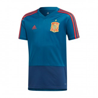 Camiseta  adidas Training España 2017-2018 Niño Tribe blue-Red