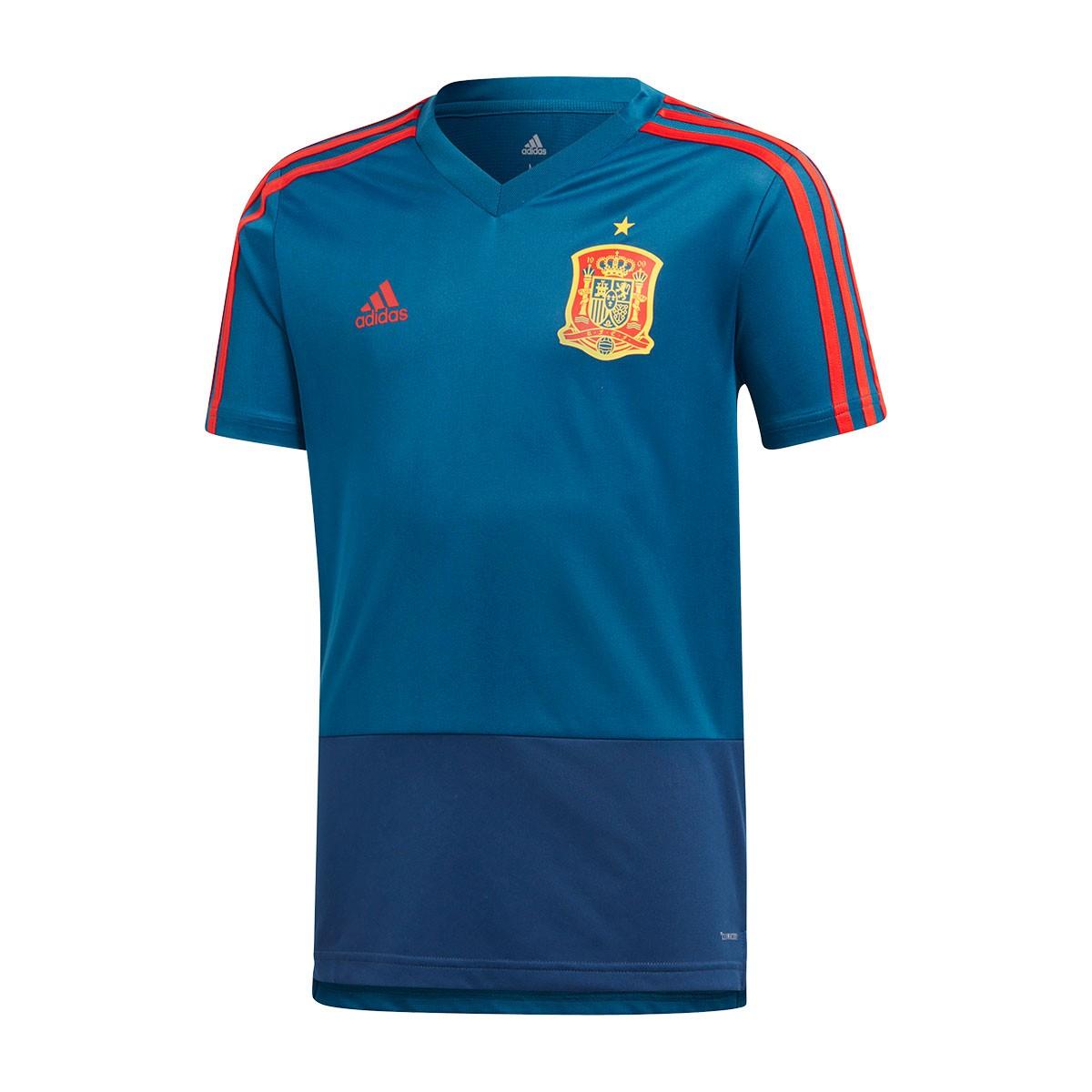2fb66f39e583b Camiseta adidas Training España 2017-2018 Niño Tribe blue-Red - Tienda de fútbol  Fútbol Emotion