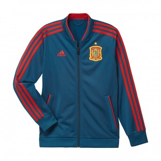 Chaqueta  adidas Training España 2017-2018 Niño Tribe blue-Red