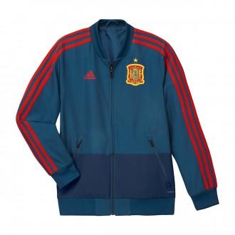Jacket adidas Kids Spain Prematch 2017-2018  Tribe blue-Red
