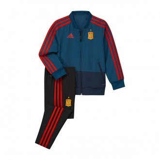 Tracksuit  adidas Kids Spain 2017-2018 Tribe blue-Red