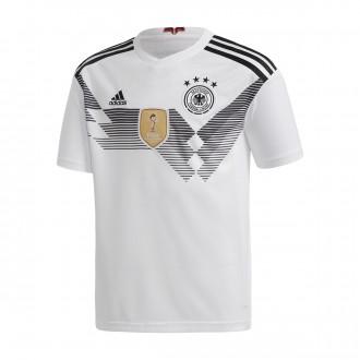 Camiseta  adidas Alemania Primera Equipación 2017-2018 Niño White-Black