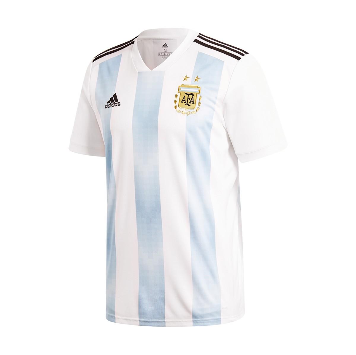 63aff36306cf0 Playera adidas Argentina Primera Equipación 2017-2018 White-Clear  blue-Black - Tienda de fútbol Fútbol Emotion