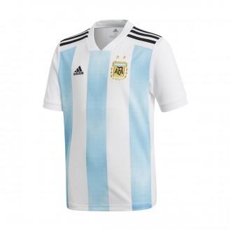 Camiseta  adidas Argentina Primera Equipación 2017-2018 Niño White-Clear blue-Black