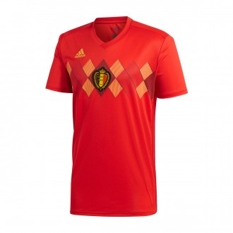 Camiseta  adidas Belgica Primera Equipación 2017-2018 Red-Bold gold