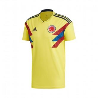 Camiseta  adidas Colombia Primera Equipación 2017-2018 Yellow-Collegiate navy