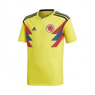 Camiseta  adidas Colombia Primera Equipación 2017-2018 Niño Yellow-Collegiate navy