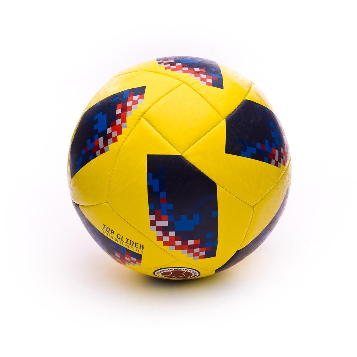 0a7fcb5c24a66 Balón adidas World Cup 18 Colombia Telstar 2017-2018 Yellow-Collegiate navy  - Tienda de fútbol Fútbol Emotion