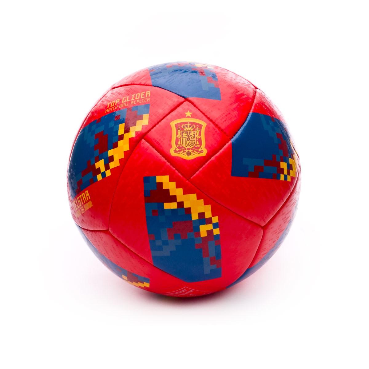 f4df7ccf5 Pallone adidas World Cup 18 Spagna Telstar 2017-2018 Red-Gold - Negozio di  calcio Fútbol Emotion