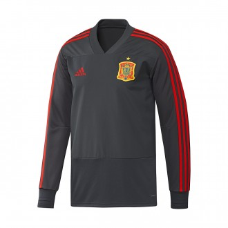Sudadera adidas Training España 2017-2018 Solid grey-Grey-Red