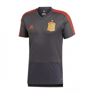Camiseta  adidas Training España 2017-2018 Solid grey-Night grey-Red