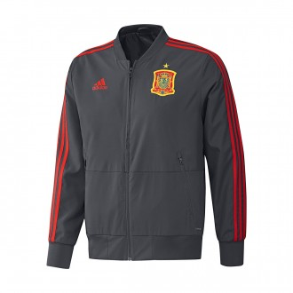 Chaqueta adidas Previa España 2017-2018 Solid grey-Night grey-Red